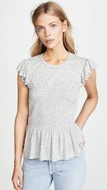 Rebecca Taylor Smocked Jersey Top at Shopbop