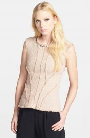 Rebecca Taylor Studded Tweet Top at Nordstrom