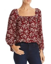 Rebecca Taylor Tilda Floral Silk Top at Bloomingdales
