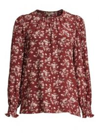 Rebecca Taylor Tilda Floral Silk Top at Saks Fifth Avenue