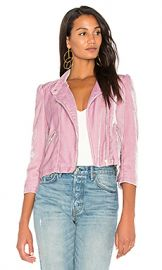 Rebecca Taylor Velvet Moto Jacket in Dusty Iris from Revolve com at Revolve