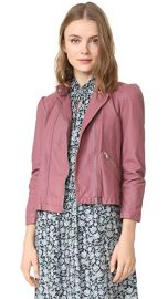 Rebecca Taylor Washed Leather Moto Jacket at Shopbop