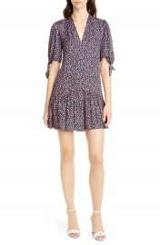 Rebecca Taylor Wild Rose Print Minidress   Nordstrom at Nordstrom