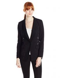 Rebecca Taylor Womenand39s Corded Lace-Back Blazer at Amazon