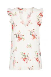 Rebecca Taylor Womens Sleeveless Marguerite Top at Amazon