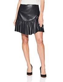 Rebecca Taylor Womens Vegan Leather Skirt at Amazon