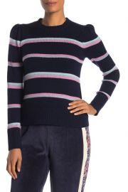 Rebecca Taylor Wool Blend Multi Stripe Pullover at Nordstrom Rack