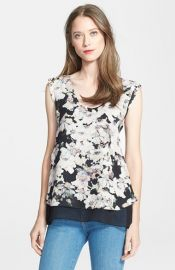 Rebecca Taylor and39Frosted Flowerand39 Print Silk Top at Nordstrom