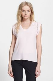 Rebecca Taylor and39Lilaand39 V-Neck Top at Nordstrom