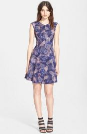 Rebecca Taylor and39Sonic Gardenand39 Print Fit andamp Flare Dress at Nordstrom