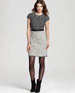 Rebecca Taylor tweed dress worn by Robin at Bloomingdales