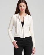 Rebecca Taylor white tweed jacket at Bloomingdales