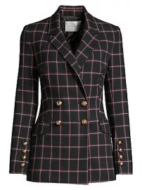 Rebecca Vallance - Peta Plaid Double-Breasted Jacket at Saks Fifth Avenue