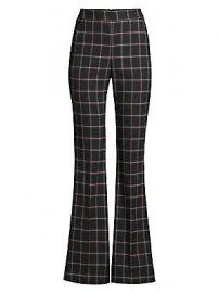 Rebecca Vallance - Peta Windowpane Flare Pants at Saks Fifth Avenue