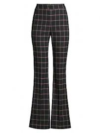 Rebecca Vallance - Peta Windowpane Flare Pants at Saks Fifth Avenue