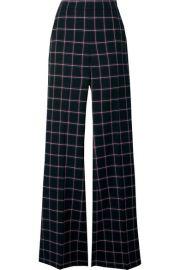 Rebecca Vallance - Peta checked woven flared pants at Net A Porter