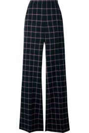 Rebecca Vallance - Peta checked woven flared pants at Net A Porter