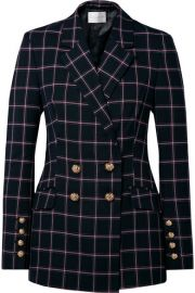 Rebecca Vallance - Peta double-breasted checked woven blazer at Net A Porter