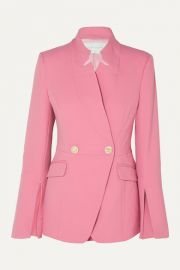 Rebecca Vallance - Sienna double-breasted crepe blazer at Net A Porter