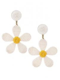 Rebecca de Ravenel - Daisy Drop Earrings at Saks Fifth Avenue