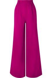 Rebecca de Ravenel - Wool-crepe wide-leg pants at Net A Porter