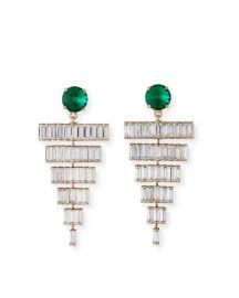 Rebekah Price Esmeredla Drop Earrings  Emerald at Neiman Marcus