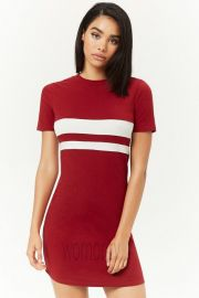 Red Striped Mini Dress by Forever 21 at Forever 21