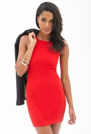 Red Bodycon Dress at Forever 21