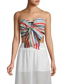 Red Carter - Perth Striped Strapless Cropped Top at Saks Off 5th
