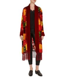 Red Firework Floral Burnout Velvet Kimono by The Kooples at Bloomingdales
