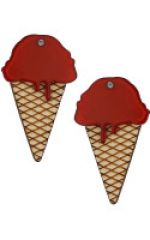 Red Ice Cream Earrings at Topshop