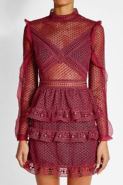 Red Lace Mini Dress by Self-Portrait at Nordstrom
