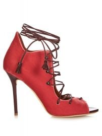 Red Lace up sandals by Malone Souliers at Matches