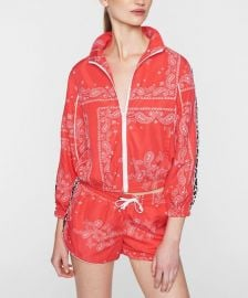 Red Paisley Leopard-Stripe Track Jacket at Zulily