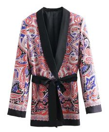 Red Paisley Wrap Blazer at Zulily