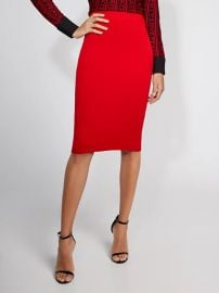 Red Sweater Skirt by Gabrielle Union at New York & Company