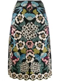 Red Valentino Embroidered Floral A-line Skirt - Farfetch at Farfetch