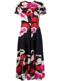 Red Valentino Floral Midi Dress - Farfetch at Farfetch