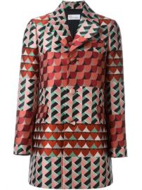 Red Valentino Geometric Print Coat - Not  233 nom at Farfetch