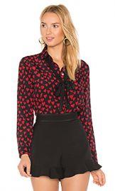 Red Valentino Heart Print Shirt in Black from Revolve com at Revolve