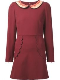 Red Valentino Scalloped Detail Dress - Tootsies at Farfetch