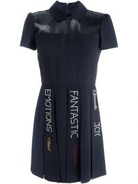 Red Valentino Sheer Panel Pleated Dress at Farfetch