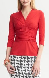 Red Wrap Top by Issa London at Issa London