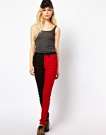 Red and black jeans at ASOS at Asos