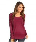 Red and grey striped longsleeve top by Splendid at Zappos