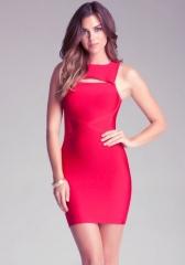 Red bandage dress at Bebe