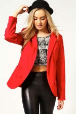 Red blazer at Boohoo at Boohoo