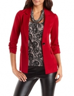 Red blazer from Charlotte Russe at Charlotte Russe