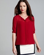 Red blouse by DKNY at Bloomingdales