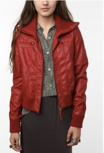 Red bomber jacket from Urban Outfitters at Urban Outfitters